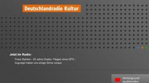 Screenshot des HbbTV-Angebotes von Deutschlandradio Kultur