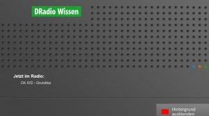 Screenshot des HbbTV-Angebotes von DRadio Wissen