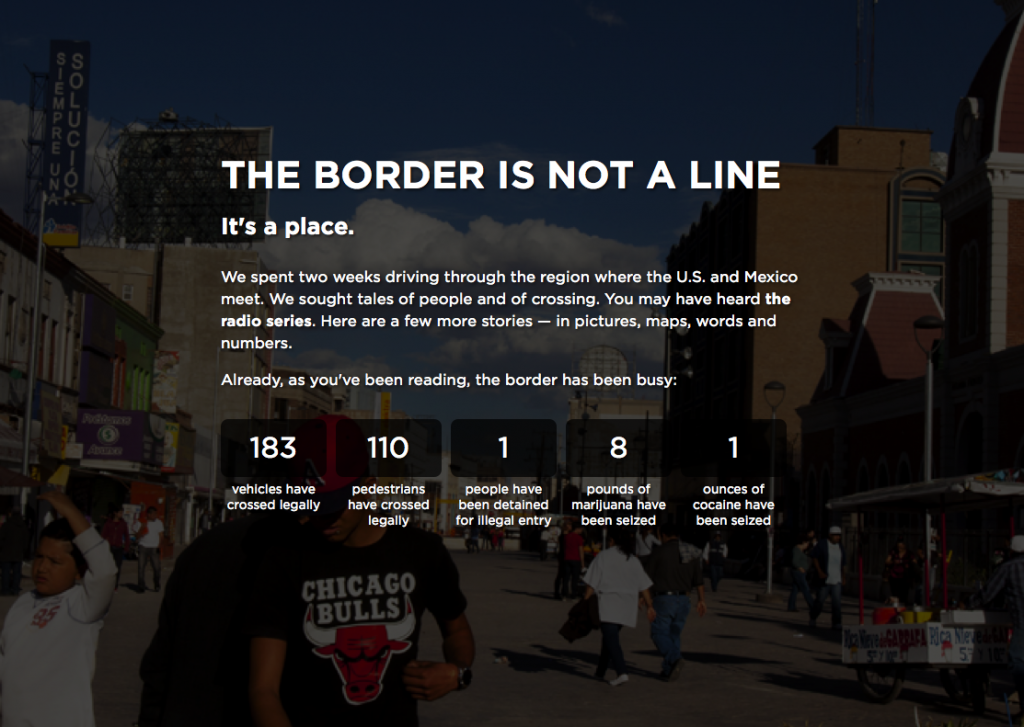 Screenshot NPR Borderland