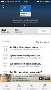 TuneIn Campus Podcast mit Episoden