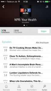 TuneIn NPR Your health Podcast mit Episoden