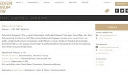 Screenshot des Programmablaufs beim Medienforum NRW