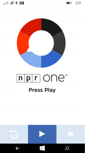 Screenshot NPR One