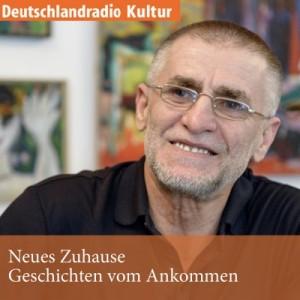 """Logo des Podcasts """"Neues Zuhause - Geschichten vom Ankommen"""""""