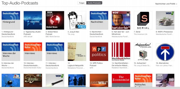 Screenshot: iTunes Podcasts