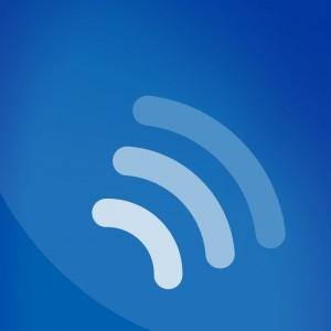 Ein DLF-Logo ohne Schriftzug mit drei Symbolen, die Radiowellen darstellen (Grafik: Deutschlandradio)