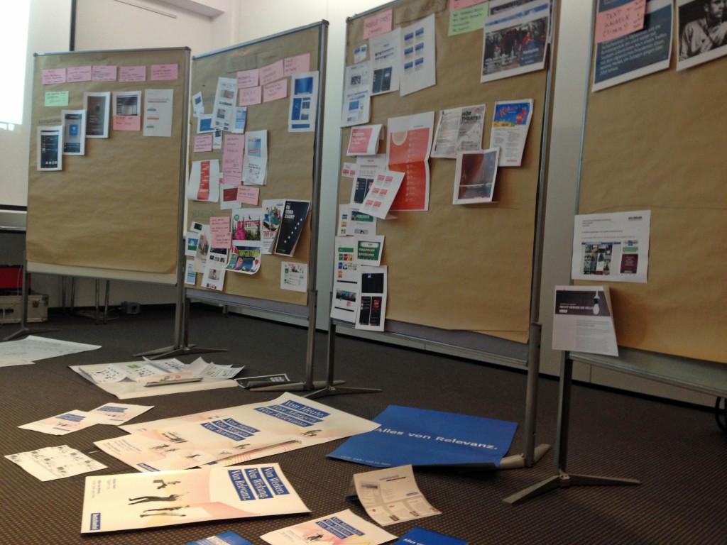 Screen Design Workshop: Gedankengänge und Ideen, ganz analog (Foto: Boris Bittner, Deutschlandradio lab)