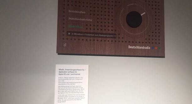 Exponat DRadio Anwendungssoftware in der Ausstellung RADIO Zeit des MAKK (Foto: Sebastian Kutscher)