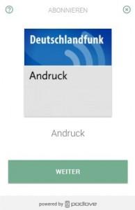 Podlove Button Andruck DLF