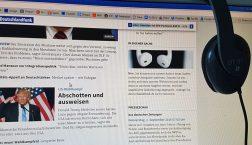 Der Seamless Player auf der Deutschlandfunk-Startseite. (Foto: Deutschlandradio)